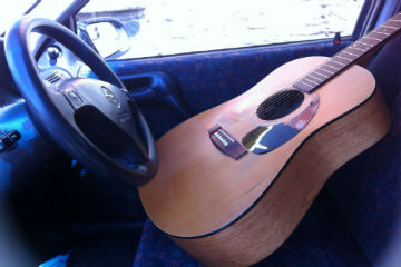 guitar in the driver seat